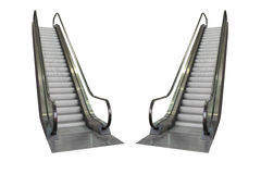 Escalator isolated on white background, clipping path included Stock Images
