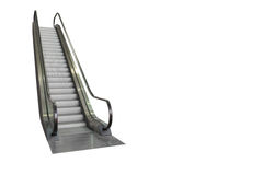 Escalator isolated on white background, clipping path included. Stock Photo