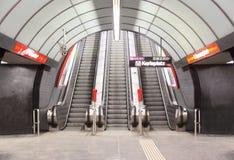 Escalator on karlsplatz metro station Royalty Free Stock Image