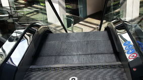 Escalator Lift in Shopping Mall stock video
