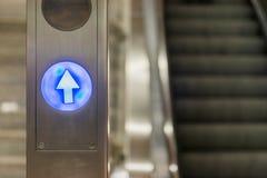 Escalator Light Symbols Arrow Stop Metal Pole Public Metro Royalty Free Stock Photos