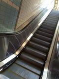 Escalator. With lights Stock Photo
