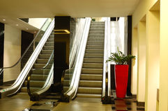 Escalator at luxury hotel interior Stock Photography