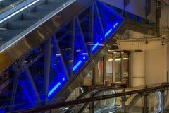 Escalator in the mall Stock Photo