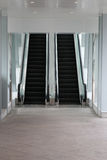 Escalator in the mall. Royalty Free Stock Image