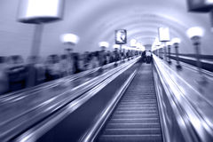 Escalator in metro Royalty Free Stock Photography