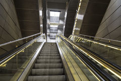 Escalator in the metro Stock Image