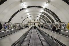 Metro escalators Royalty Free Stock Image