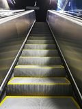 Escalator in the Metro. Steps of the escalator in the metro royalty free stock photo