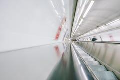Escalator mobile dans le mouvement Photo libre de droits