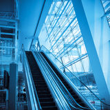 Escalator in modern airport Royalty Free Stock Photo