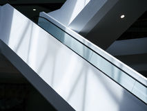 Escalator in Modern architecture Royalty Free Stock Images