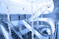Escalator in modern building Stock Photography
