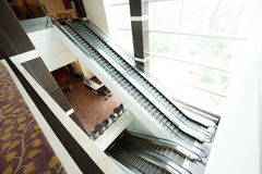 Escalator in modern building Royalty Free Stock Images