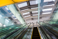 Escalator in a modern building Royalty Free Stock Images