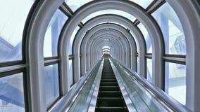 Escalator in modern building stock video footage