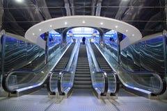Escalator of modern building Stock Image
