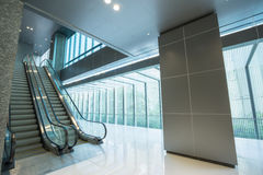 Escalator in modern building Royalty Free Stock Photo