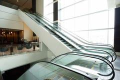 Escalator in modern building Stock Photos