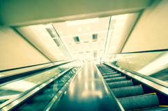 Escalator in modern office building Royalty Free Stock Photography