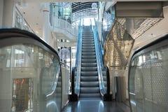 Escalator in modern shopping center Stock Photography