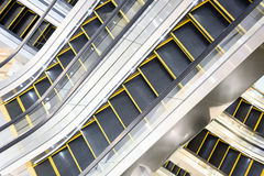 Escalator in the modern shopping mall Royalty Free Stock Images
