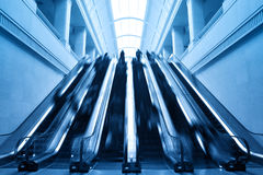 Escalator in modern station building Stock Images