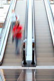 Escalator in motion Stock Photos