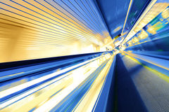 Escalator in motion Royalty Free Stock Image