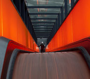 Escalator in motion Royalty Free Stock Photography