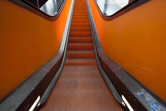 Escalator in motion Royalty Free Stock Images