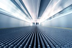 Escalator in motion Royalty Free Stock Photos