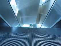 Escalator on the move close-up Royalty Free Stock Photography