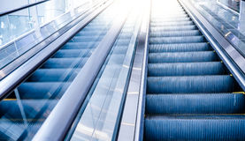 Escalator movement in mall. Escalator movement in mall, Up and down Royalty Free Stock Image