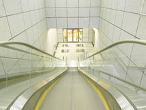 Escalator moving down Royalty Free Stock Image