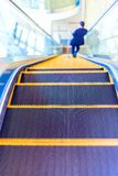 Escalator or moving staircase in modern Royalty Free Stock Photography