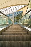 Escalator at Munich airport Stock Photos