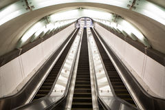 Escalator at the 2nd Avenue Subway royalty free stock photo
