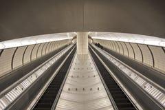 Subway escalator in New York City royalty free stock photo