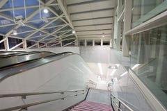 Escalator at night Royalty Free Stock Photography