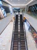 Escalator in Ocean Terminal, Hong Kong Stock Image