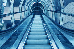 Escalator  in office building Stock Images