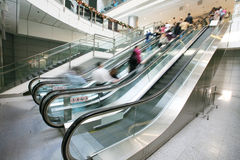 Escalator  in office building Stock Photography