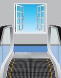 Escalator and open window Stock Photos