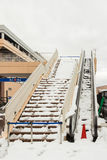 Escalator out of service after snow storm passes Stock Photography