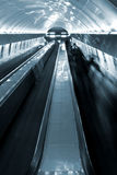 Escalator with people Stock Photography