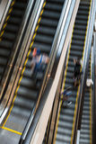Escalator with person movemont in blur from high Angle view Royalty Free Stock Photography