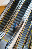 Escalator with person movemont in blur from high Angle view Royalty Free Stock Images