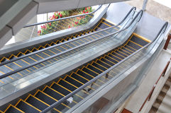 The escalator perspective view Royalty Free Stock Photo