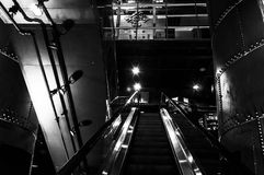 Escalator in the Powerplant, Baltimore, Maryland. Stock Images